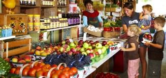 Elberta Farms Market in Brant County
