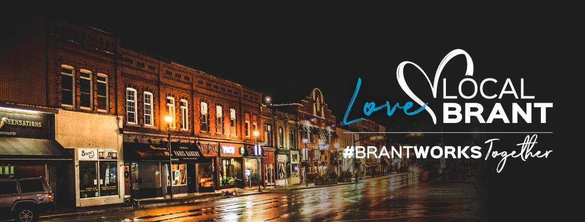 Love Local Brant, Downtown Paris plus the logo