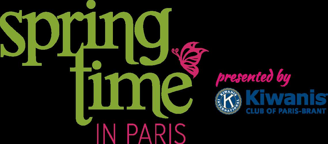 Springtime in Paris logo presented by Kiwanis Club