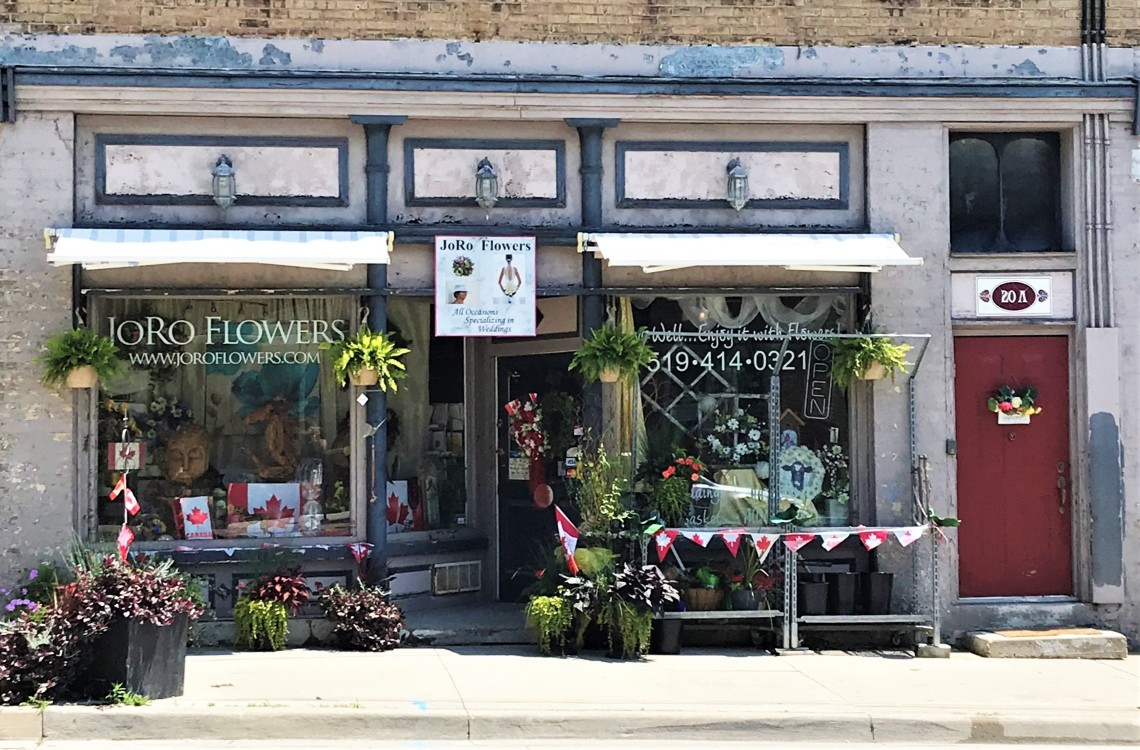 JoRo Flowers Storefront in St. George Ontario in the County of Brant